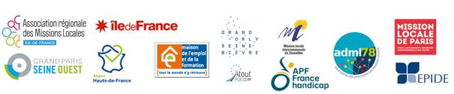 Exemple de structures publiques et acteurs de l'insertion partenaires : Mission locale de Paris, île de France, EPIDE ...